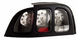 1994-1998 FORD MUSTANG LED TAIL LIGHTS (PAIR) BLACK   (Anzo USA)