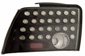 1999-2004 FORD MUSTANG LED TAIL LIGHTS (PAIR) BLACK   (Anzo USA)