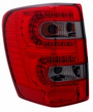 1999-2004 JEEP GRAND CHEROKEE LED TAIL LIGHTS (PAIR) RED/SMOKE  (Anzo USA)