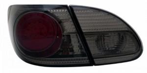 2003-2008 TOYOTA COROLLA LED TAIL LIGHTS (PAIR) RED/SMOKE 4 PCS  (Anzo USA)