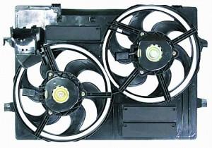 2002-2005 Jaguar X-type Radiator Cooling Fan Assembly