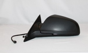 2008-2012 Chevrolet Chevy Malibu Side View Mirror (LS Model / Power Remote / Non-Heated / Black) - Left (Driver)