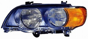 2000-2003 BMW X5 Headlight Assembly (Halogen / with Amber Turn Signals) - Left (Driver)