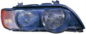 2000-2003 BMW X5 Headlight Assembly (Halogen / with White Turn Signals) - Left (Driver)