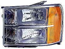 2007-2011 GMC Sierra Pickup Headlight Assembly - Left (Driver)