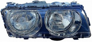 1999-2001 BMW 740i Headlight Assembly (Halogen / with Bright Bezel Lens) - Right (Passenger)