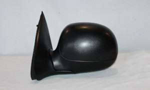 1997-2002 Ford F-Series Heritage Pickup Side View Mirror (Manual / Contour Style / Black / to 2/11/02) - Left (Driver)