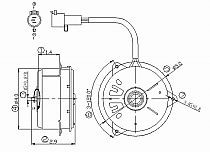 2002-2004 Chevrolet (Chevy) Tracker Condenser Cooling Fan Motor