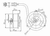 1995-1998 Mazda Protege Radiator Cooling Fan Motor (Right Side / 1.8L)