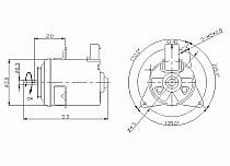 1995-1996 Toyota Camry Radiator Cooling Fan Motor (Right Side)