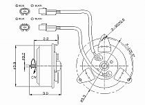 1991-1992 Dodge Caravan Radiator Cooling Fan Motor