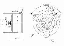 1998-2006 Mercury Sable Radiator Cooling Fan Motor