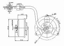 1993-1994 Mazda Protege Radiator Cooling Fan Motor