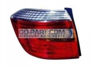 2008-2010 Toyota Highlander Tail Light Rear Lamp (Sport Model) - Left (Driver)