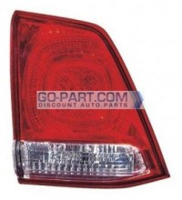 2008-2010 Toyota Landcruiser Tail Light Rear Lamp (Lens/Housing / BUL Unit on Lifegate) - Left (Driver)