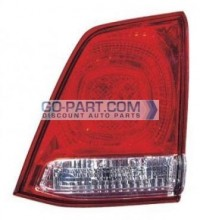 2008-2010 Toyota Landcruiser Tail Light Rear Lamp (Lens/Housing / BUL Unit on Lifegate) - Right (Passenger)