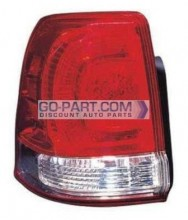 2008-2010 Toyota Landcruiser Tail Light Rear Lamp (Lens/Housing / On Body) - Left (Driver)