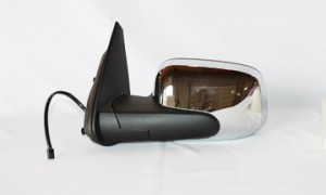 2006-2011 Chevrolet Chevy HHR Side View Mirror (Bright Chrome / Power Remote / Non-Heated) - Left (Driver)