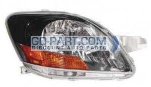 2008-2010 Toyota Yaris Headlight Assembly (S Model / Sedan) - Right (Passenger)