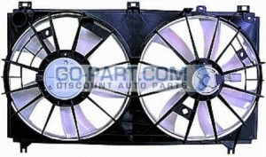 2007-2008 Acura TL Radiator Cooling Fan Assembly