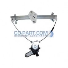 2003-2007 Honda Accord Window Regulator Assembly Power (Coupe / Front Driver Side / Cable Mechanism / Anti-Pinch) (Front Left)