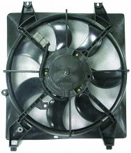 2007-2009 Hyundai Santa Fe Radiator Cooling Fan Assembly (Left Side / 2.7L / Without Towing Package)