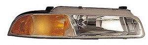 1995-1996 Chrysler Cirrus Headlight Assembly (For Models with Improved Beam Pattern) - Right (Passenger)