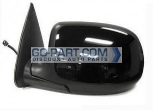2002-2002 Chevrolet Chevy Avalanche Side View Mirror (Heated Power Remote / Manual Folding / with Puddle Lamp) - Left (Driver)
