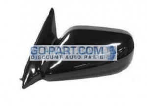1997-2001 Toyota Camry Side View Mirror (Non-Heated / Power Remote / Japan / Black / Camry CE/LE/XLE) - Left (Driver)