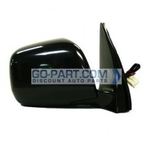 2001-2007 Toyota Highlander Side View Mirror (Heated / Power Remote / Black (Code 202) - Right (Passenger)