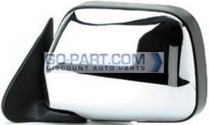 1990-1995 Toyota 4Runner Side View Mirror (without Vent Window / Manual / Bright) - Left (Driver)