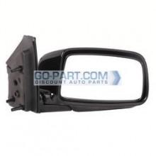 2002-2005 Mitsubishi Lancer Side View Mirror (Sedan / ES / Manual / Foldable / Black) - Right (Passenger)