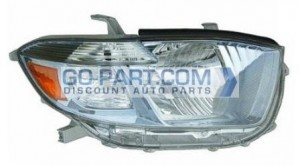 2008-2010 Toyota Highlander Hybrid Headlight Assembly - Right (Passenger)
