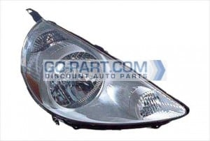 2007-2008 Honda Fit Headlight Assembly (Tafetta White) - Right (Passenger)