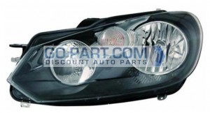 2010-2011 Volkswagen Golf Headlight Assembly - Left (Driver)