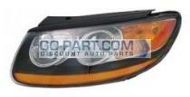 2010-2011 Hyundai Santa Fe Headlight Assembly - Left (Driver)