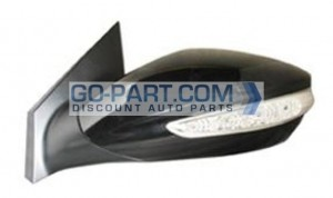 2011-2011 Hyundai Sonata Side View Mirror (With Signal Lamp) - Left (Driver)