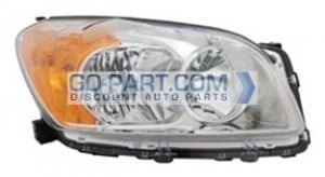 2009-2011 Toyota RAV4 Headlight Assembly (For BASE / LIMITED Models Only / USA Built) - Right (Passenger)