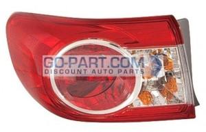 2011-2011 Toyota Corolla Tail Light Rear Lamp - Left (Driver)