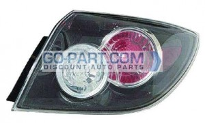 2007-2009 Mazda 3 Mazda3 Tail Light Rear Lamp - Right (Passenger)