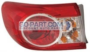2011-2011 Toyota Corolla Outer Tail Light Rear Lamp - Left (Driver)