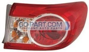 2011-2011 Toyota Corolla Outer Tail Light Rear Lamp - Right (Passenger)