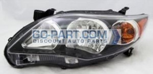 2011-2012 Toyota Corolla Headlight Assembly - Left (Driver)