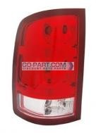 2010-2010 GMC Sierra Pickup Tail Light Rear Lamp - Left (Driver)