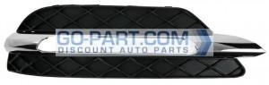 2012-2012 Mercedes Benz C350 Front Bumper Insert - Right (Passenger)