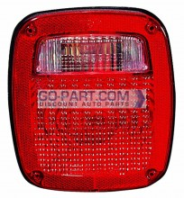 1987-1990 Jeep Wrangler Tail Light Rear Lamp - Left (Driver)