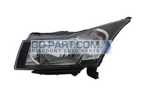 2012-2013 Chevrolet (Chevy) Cruze Headlight Assembly - Left (Driver)