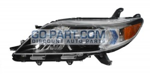 2011-2012 Toyota Sienna Headlight Assembly - Left (Driver)