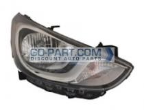 2012-2013 Hyundai Accent Headlight Assembly - Right (Passenger)