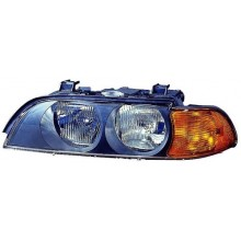 1997 -  1998 BMW 528i Front Headlight Assembly Replacement Housing / Lens / Cover - Left <u><i>Driver</i></u> Side
